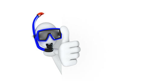 Thumbs Up! Diver Stock Video Footage