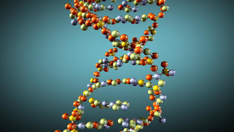 Turning DNA background Stock Video Footage
