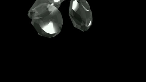 falling large diamonds & gems Stock Video Footage