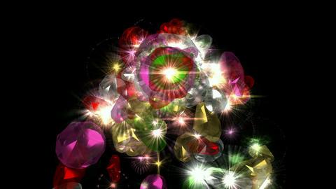 falling gems & diamonds Stock Video Footage