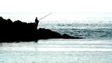 FISHING ON THE ROCKS Footage