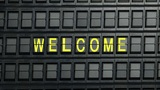 departure board welcome Animation