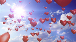 Heart Balloons - Romantic / Wedding Video Background Loop Animation