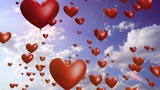 Heart Balloons - Romantic / Wedding Video Background Loop stock footage