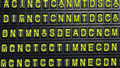 departure board yes Stock Video Footage