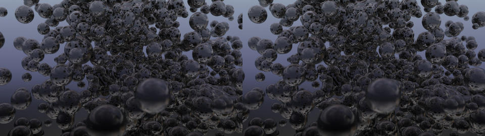 Oil drops -Stereoscopic 3D Stock Video Footage