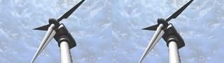 Turbine Energy -Stereoscopic 3D stock footage