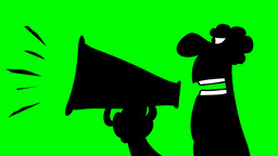 MAN YELLING BY MEGAPHONE Stock Video Footage