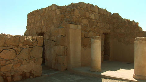 Masada buildings Stock Video Footage