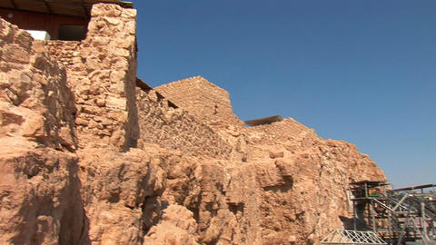 cableway on Mount Masada 6 Stock Video Footage