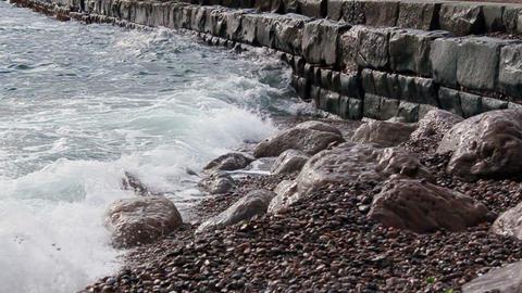 Black sea slow motion Stock Video Footage