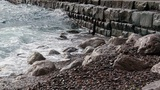 Black sea slow motion Footage
