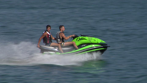 jet ski 04 e Stock Video Footage