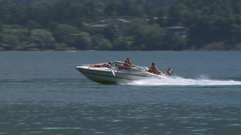 motorboat 27 e Stock Video Footage