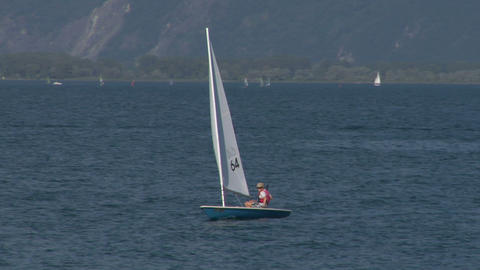 sailing school 01 Stock Video Footage