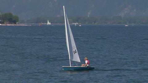 sailing school 01 Stock Video Footage
