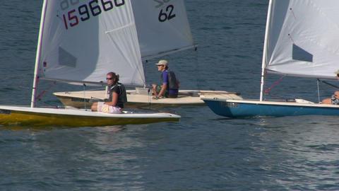 sailing school 03 Stock Video Footage