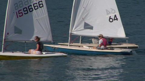 sailing school 03 Stock Video Footage