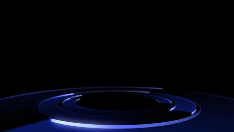 Circle Stage Ab 7b HD Stock Video Footage