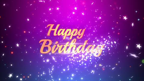 Birthday glitter star CG動画