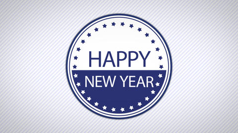 happy new year simple Animation