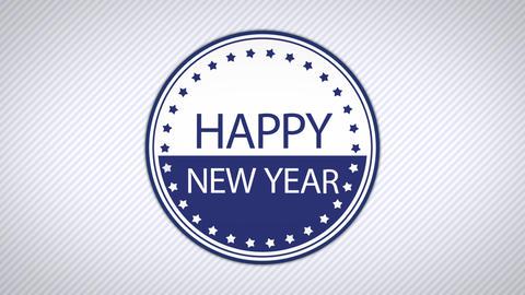 happy new year simple CG動画