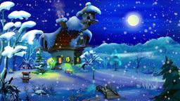 Magic Winter Night Footage