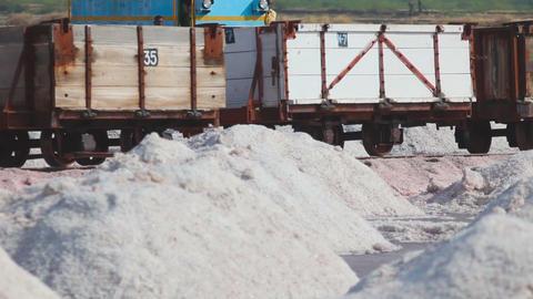 Salt mining in Sambhar, accident - train derails Footage