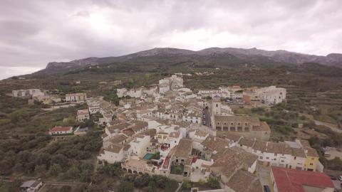 Aerial view of Benimantell - Marina Baixa, Costa Blanca, Alicante, Valencian Com Footage