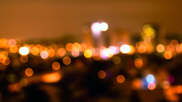 Night city abstract bokeh Footage