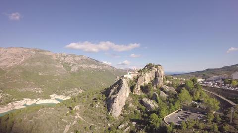 Aerial view of El Castell de Guadalest - Marina Baixa, Costa Blanca, Alicante, V Footage