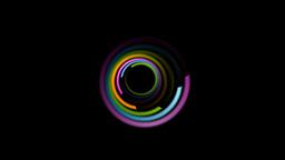 Colorful spiral emblem logo video animation Animation