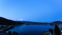 Timelapse video of the scared mountain - Mount Fuji Footage