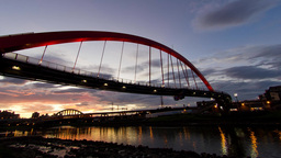 4K timelapse of Rainbow Bridge ภาพวิดีโอ