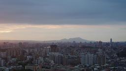 4K timelapse of aerial view of JingMei Footage