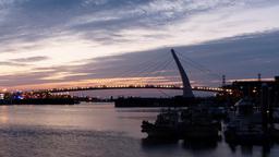 4K timelapse of Tamsui Lover's Bridge Footage