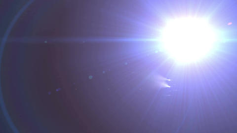 Camera Lens flare rapidly flashes Animation