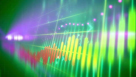 Colorful animation of stock market investment Animation