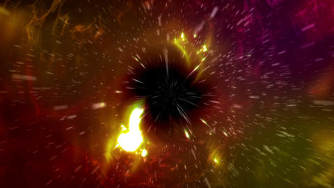 Universe scene of Black Hole in outer space Animation