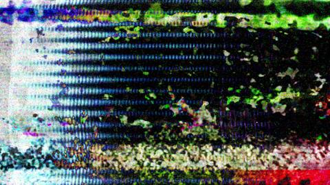 Datamosh Tv Noise Damaged Distorted Filmstrip Background Stock Video Footage