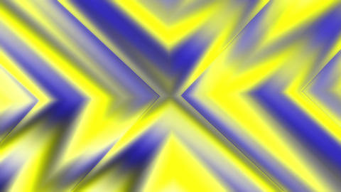 Animated Colored Yellow Blue Concentric Geometric Motion Shapes Animation