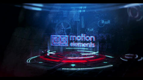 Glitch Neon Logo 3 After Effects Template
