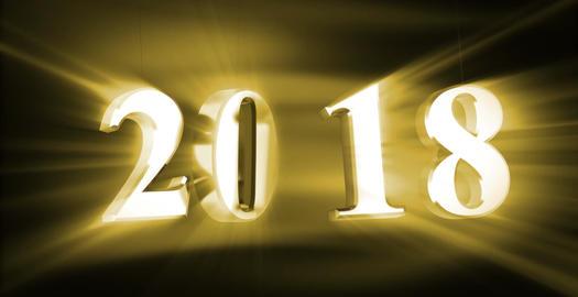 New Year 2018 CG動画素材