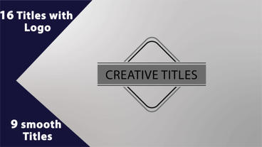 25 titles with Logo Plantilla de After Effects