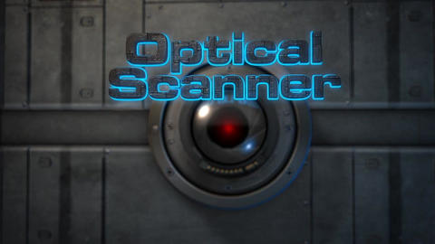 Optical Scanner - Laser Scanning 3D Text Logo Stinger After Effects Template