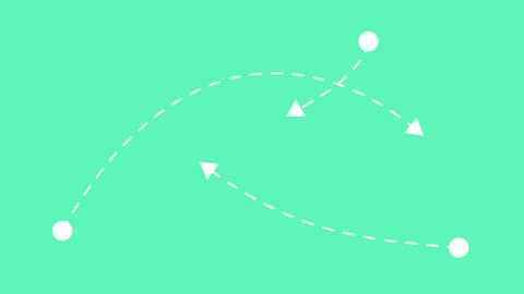 Arrows moving in different directions. Concept of business choice, multiple solu Animation