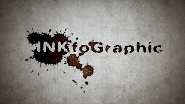 INKfoGraphic - Splattering Ink Blots Intro Plantilla de After Effects