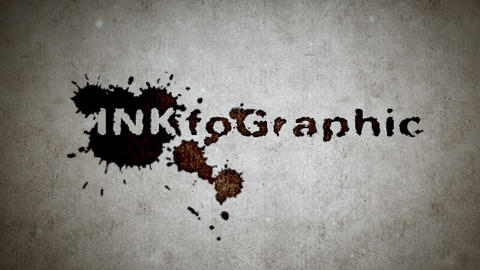 INKfoGraphic - Splattering Ink Blots Intro After Effects Template