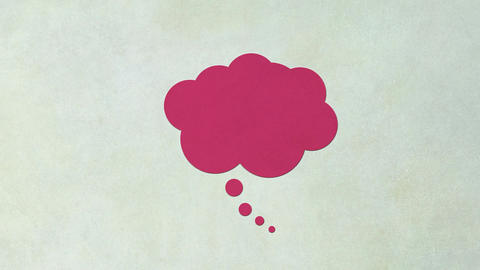 Thought bubble with colors changing. Animated icon with copy space. Concept of t Animation