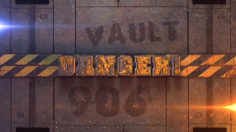 Danger! - 3D Procedural Metallic Text Logo Stinger After Effects Template